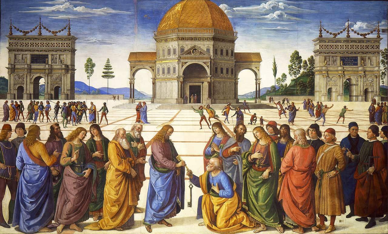 Een werk van Pietro Perugino (1481-1482, Sixtijnse Kapel)